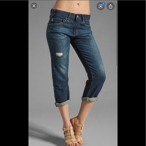 AG ex- boyfriend cropped jeans